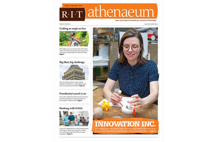 RIT Athenaeum newspaper pages