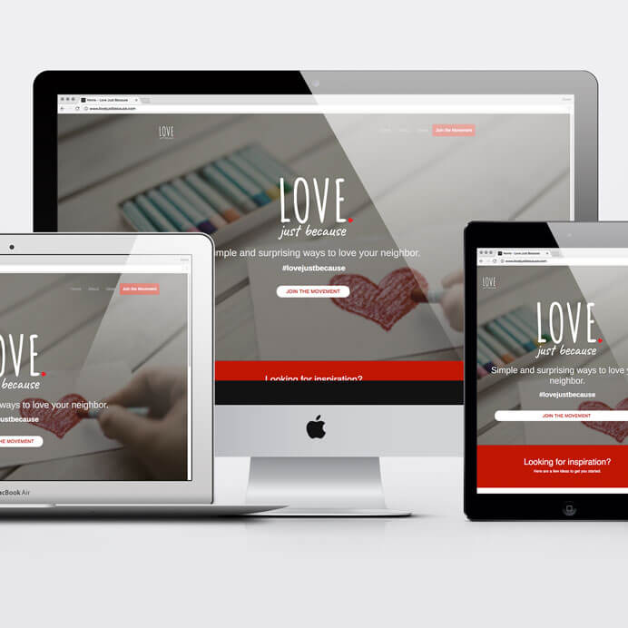 Love Just Because website